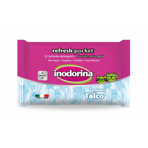 Toallitas Inodorina Pocket Refresh Talco